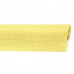 Креп хартия 50x230 см жълта светло