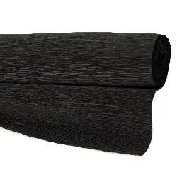 Crepe paper 50x230 cm black