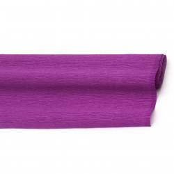 Crepe Paper for Decoration  50x230 cm purple saturated
