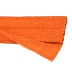 DIY Crepe paper fine 50x200 cm orange dark