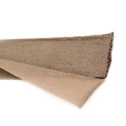 DIY Crepe paper fine 50x100 cm brown light