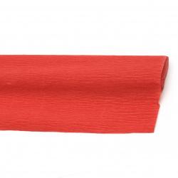 Креп хартия 50x230 см червена светло