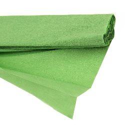 Креп хартия фина 50x200 см зелена светло