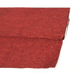 Hârtie creponată metalică fină de culoare roșie de 50x100 cm