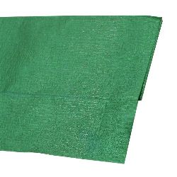 Crepe paper fine 50x100 cm green metallic