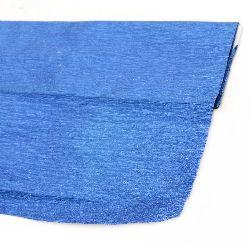 Creponata fină de hârtie 50x100 cm albastru metalizat