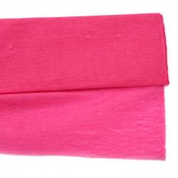 fine Crepe paper  50x200 cm pink dark