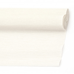 Crepe paper 50x230 cm white milky