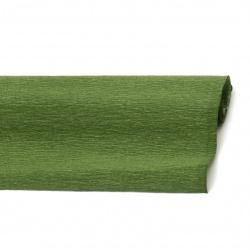 Креп хартия 50x230 см зелена тъмно