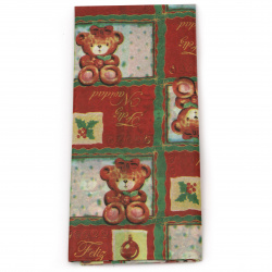 Tissue Paper for Decoration 50x65 cm Christmas bear - 10 sheets