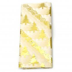 Тишу хартия 50x65 см коледна елха цвят злато -10 листа