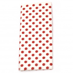 Tissue Paper for Decoration 50x65 cm white with red dots - 10 sheets