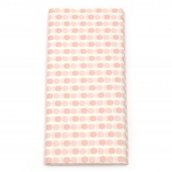 Tissue Paper for Decoration 50x65 cm white with pink dots - 10 sheets