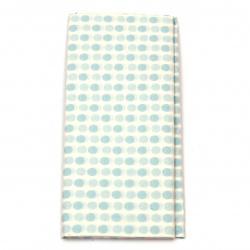 Тишу хартия 50x65 см цвят бял със сини точки -10 листа
