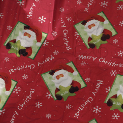 Cellophane metallized type foil 70x300 cm Christmas motifs color red MIX -1 piece