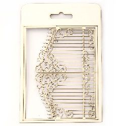 Chipboard element, openwork gate for craft projects 15.5x12 cm