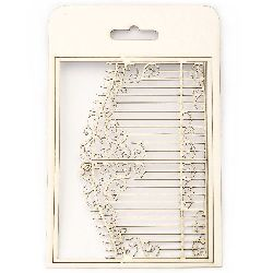 Chipboard element, openwork gate for greeting cards, albums, boxes 20.5x15 cm