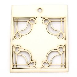 Set of chipboard elements, corner ornaments
