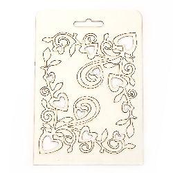 Σετ διακοσμητικών στοιχείων από χαρτόνι chipboard 13x10,7 cm