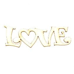 "Inscription from chipboard ""Love"" suitable for decoration of cards, scrapbook albums 100x30x1 mm - 2 pieces"