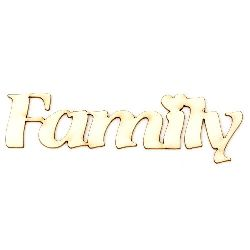"""Inscription from chipboard """"Family"""" 100x23x1 mm - 2 pieces"""