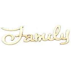 "Lettering from chipboard ""Family""  100x25x1 mm - 2 pieces"