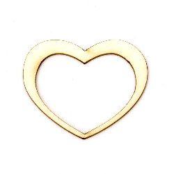 Καρδιά χαρτόνι Chipboard 40x50x1 mm -2 τεμάχια