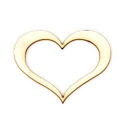 Inima din carton de bere 40x50x1 mm -2 bucăți