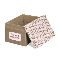 21x14 cm cardboard box set with cherry colored lid