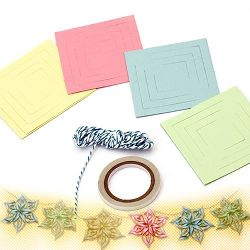 DIY Decoration Paper Set of flowers, Christmas Decoration -3 meters