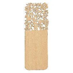 Книгоразделител /bookmark/ дървен 15x5 см винтидж гора