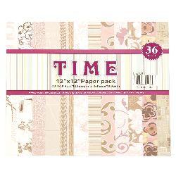 Design scrapbooking paper 12 inch (30.4x30.4 cm) 12 designs x 3 sheets