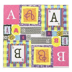 Hârtie de scrapbooking pentru designeri de 12 inci (30,5x30,5 cm) 13 foi imprimate alfabet autoadeziv
