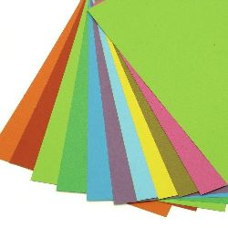 Carton colorat 200 g / m2 A4 ASSORTE -10 foi