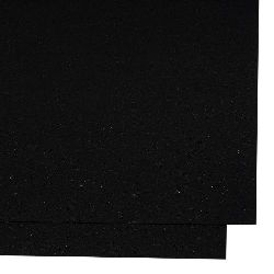 Cardboard pearl double sided 250 gr / m2 with brocade effect A4 (297x210 mm) black-1 piece