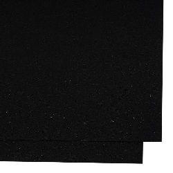 Carton perlat  cu două fețe 250 g / m2 cu efect brocart A4 (297x210 mm) negru-1 bucată