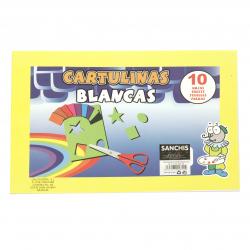 Блокче бели картонени листи 30x21 см -10 броя