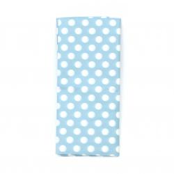 Тишу хартия 50x65 см синя с бели точки -10 листа