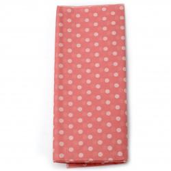 Тишу хартия 50x65 см розова с бели точки -10 листа