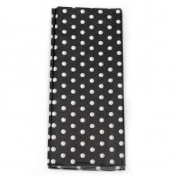 Тишу хартия 50x65 см черна с бели точки -10 листа
