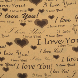 DIY Wrapping Paper I LOVE YOU 50x70 cm