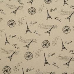 Хартия опаковъчна 50x70 см двулицева - с Айфелова кула -1 лист