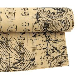 DIY Wrapping Paper Music Notes 50x70 cm
