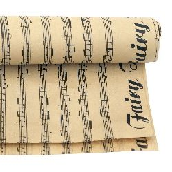 DIY Wrapping Paper Music Notes  51x77 cm