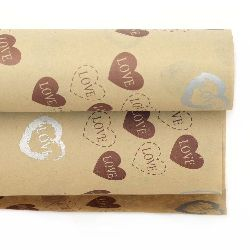 DIY Wrapping Paper Hearts  51x77 cm