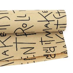 DIY Wrapping Paper Black Letters  51x77 cm