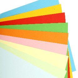 Хартия 160 гр/м2 10 цвята -50 листа