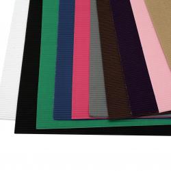 Γκοφρέ χαρτόνι 50x70 cm MIX χρώματα -1 φύλλο
