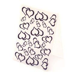 Папка за релеф 10.5x14.8 см -двойка сърца