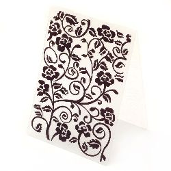 Embossing folder 10.5x14.8 cm - branch of roses